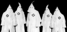 Membres de la secte américaine du Ku Kux Klan