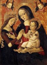 Le mariage mystique de sainte Catherine de Sienne, tableau de Pinturicchio, 2e moitié du XVe siècle