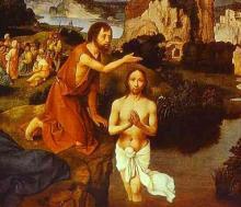 Le baptême de Jésus par Joachim Patenier