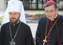 Le métropolite Hilarion et le cardinal Kurt Koch
