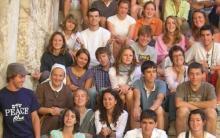 Sr Françoise-Thérèse avec les jeunes de l'aumonerie