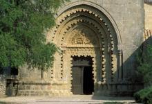 Le portail roman à lobes du monastère de Ganagobie